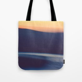 Mountain Sunrise Over Lake - Long Exposure Abstract Tote Bag