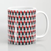 lipstick Mugs featuring Lipstick by DavidsSociety6