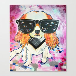 Puppy Pop Canvas Print