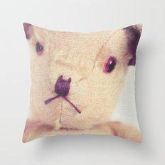 B for bear Throw Pillow