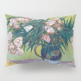 Vincent Van Gogh - Majolica Jar with Branches of Oleander Pillow Sham