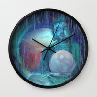 buddha Wall Clocks featuring Buddha by Digital-Art
