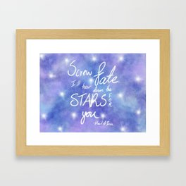 Heart of Iron Quote Framed Art Print
