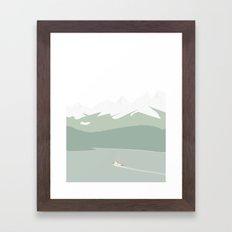 FISKERI I ALASKA Framed Art Print