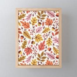 Leaves & Acorns Framed Mini Art Print