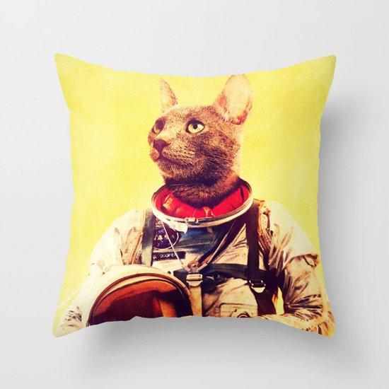 Captain Cat Throw Pillow