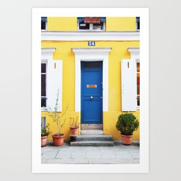 58. Yellow House, Paris Art Print