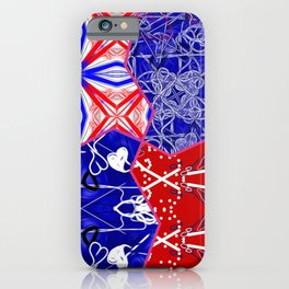 Tile #5 Red-White-Blue Collage iPhone Case