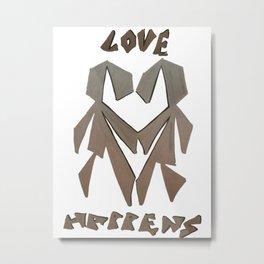 Love Happens Metal Print