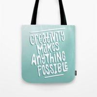 creativity Tote Bags featuring Creativity by Chelsea Herrick