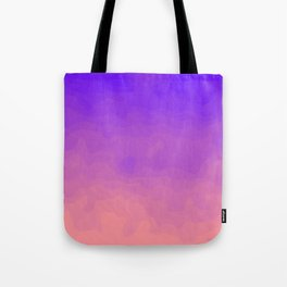 Pink and Purple Ombre - Swirly - Flipped Tote Bag