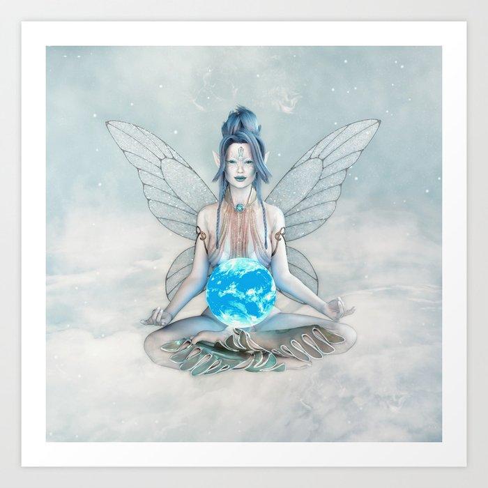 Air Elemental Fairy Art Print by digitalcuriositydesigns