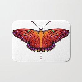 Red an Orange Butterfly Bath Mat