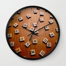 Scrabble letters Wall Clock