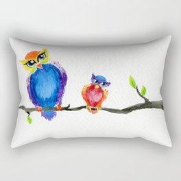 Little Rainbow Owls Rectangular Pillow