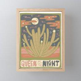 Cactus Tarot Cards- Queen of the Night Framed Mini Art Print