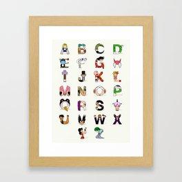 DB Alphabet Framed Art Print
