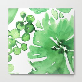 Abstract floral & square #11 Metal Print