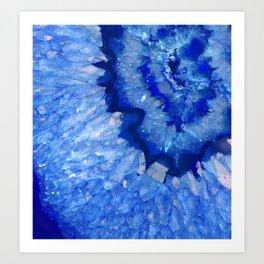 Ocean Blue Crystal Kunstdrucke