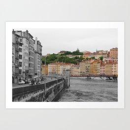 Contrast - Lyon's Hills Art Print