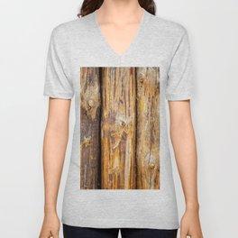 Wooden Log Fence Or Palisade Unisex V-Neck
