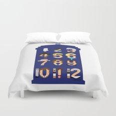 The Number Who Duvet Cover