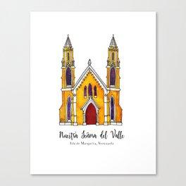 Basilica de Nuestra Senora del Valle Canvas Print