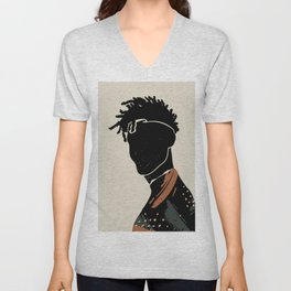 Black Hair No. 2 Unisex V-Neck
