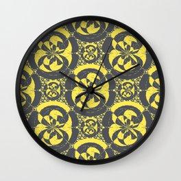 Dark grey and yellow Wall Clock