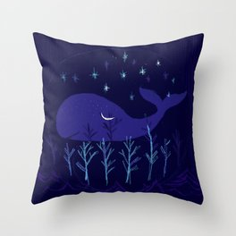 Whale Night Throw Pillow