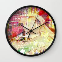england Wall Clocks featuring Old England by Ganech joe