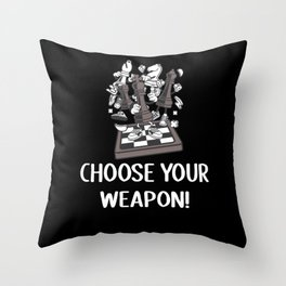 Chess Chess Player Gift Idea Throw Pillow