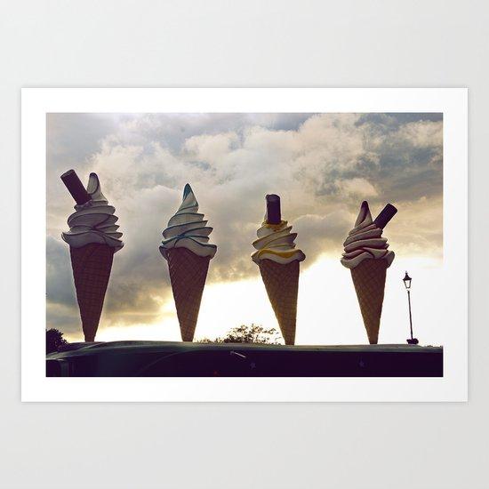 The Four Divine Icecreams Art Print