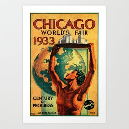 Chicago World's Fair 1933 Vintage Poster Art Print