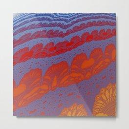 Fractal Ridges Metal Print