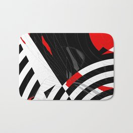 black and white meets red Version 8 Bath Mat
