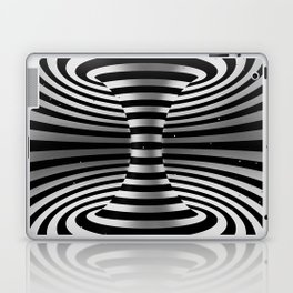 Connected channel (b-w) Laptop & iPad Skin