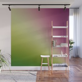 Gradient Colours: Green Purple Wall Mural