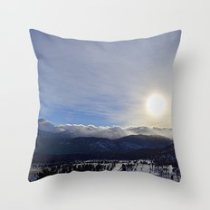 Rolling Clouds Over the Rockies Throw Pillow