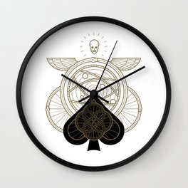 Omnia Oscura Ace of Spades Wall Clock