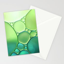 Jade Ombre Bubbles Stationery Cards