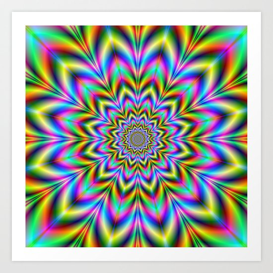 Psychedelic Flower Art Print