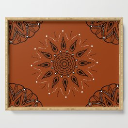 Central Mandala Curry Serving Tray