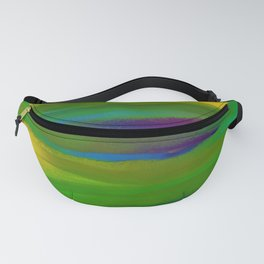 Green Mardi Gras Abstract Fanny Pack