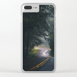 GREY - CONCRETE - ROAD - DAYLIGHT - JUNGLE - NATURE - PHOTOGRAPHY Clear iPhone Case