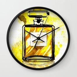 Parfum Gold Wall Clock