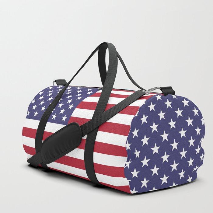 USA flag - Hi Def Authentic color & scale image Duffle Bag