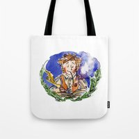 the hobbit Tote Bags featuring Hobbit by Kris-Tea Books