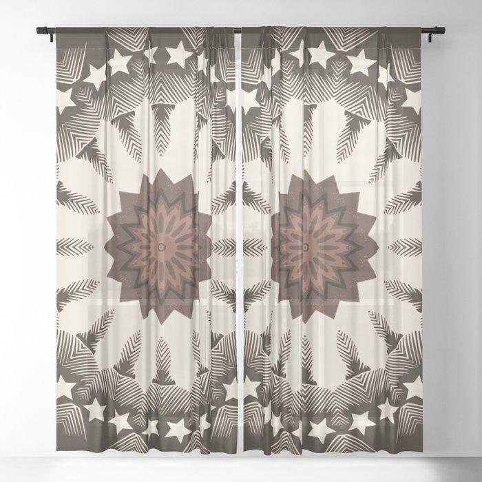 Ouija Wheel of Stars - Beyond the Veil Sheer Curtain