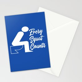 Every Squat Counts Stationery Cards